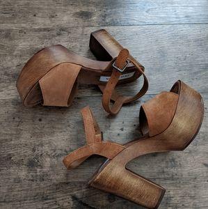 Steve Madden Lulla Platform Sandal Chestnut 7 NIB